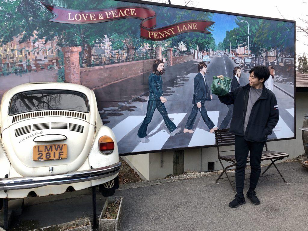 ビートルズの看板