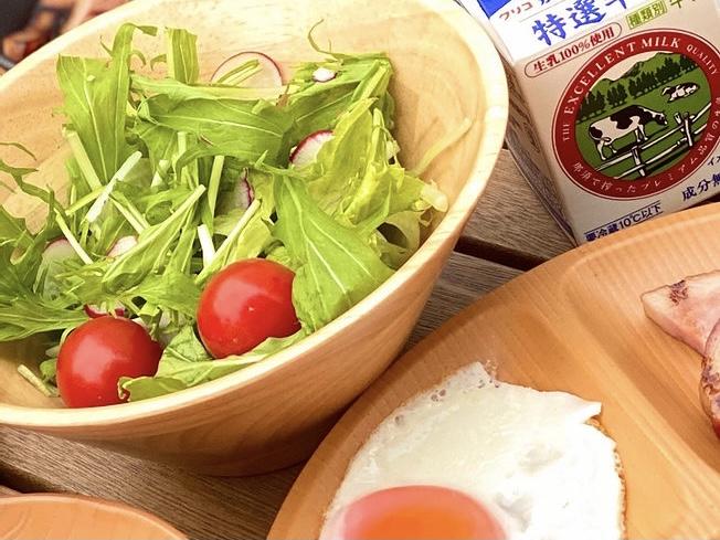 那須の食材を使った朝食